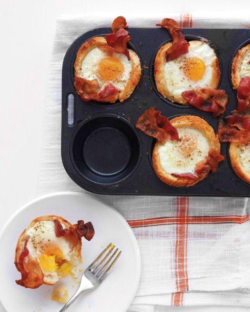 Bacon ~ Egg ~ Toast Cups