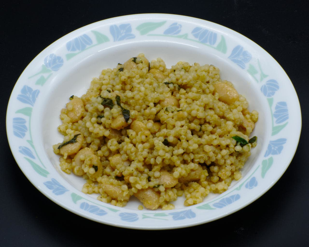 Pearl Couscous With Butter (Lima) Beans and Pesto Image