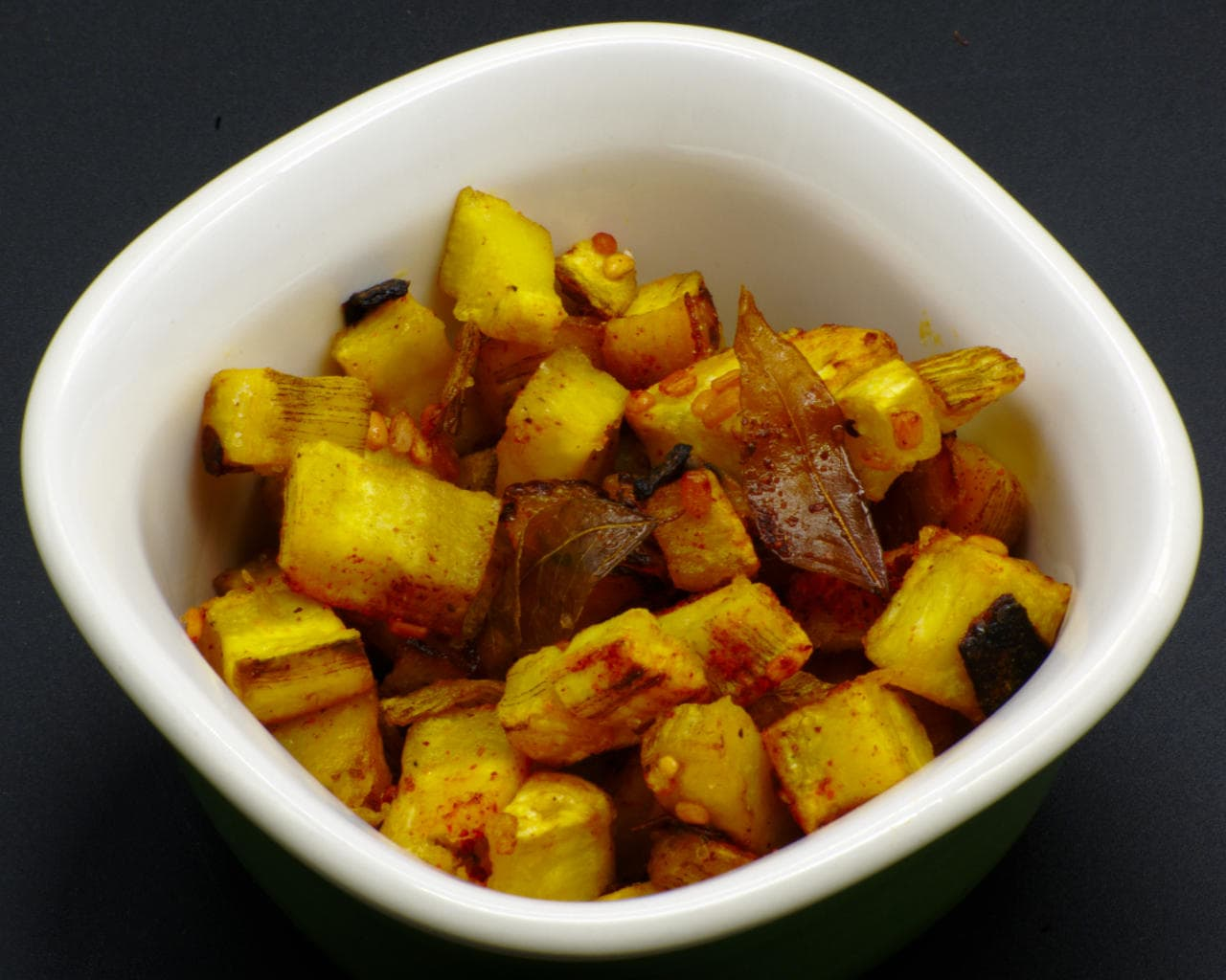 Stir-Fried Green Plantain With South Indian Spices Image