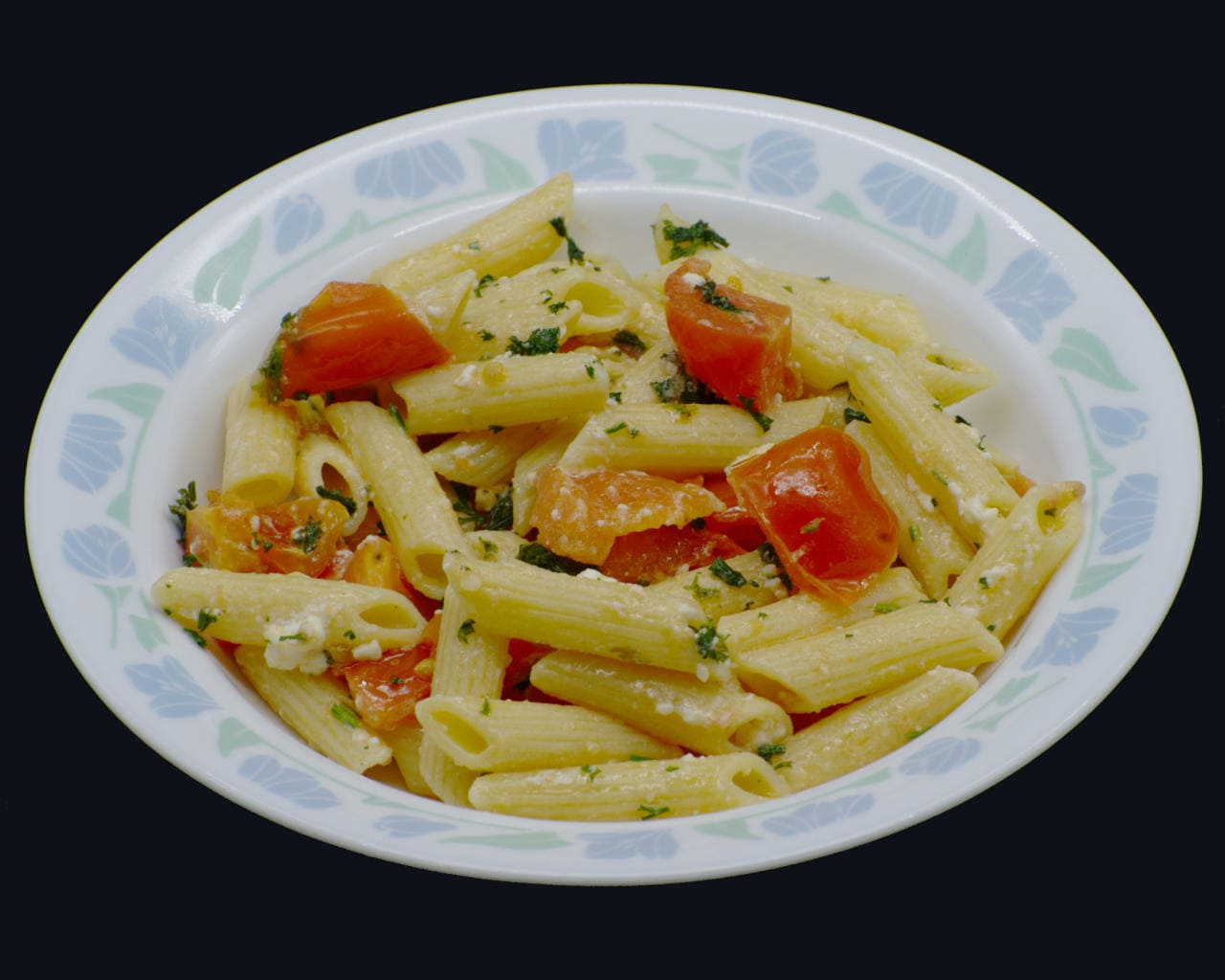 Penne Pasta With Tomatoes and Feta Image