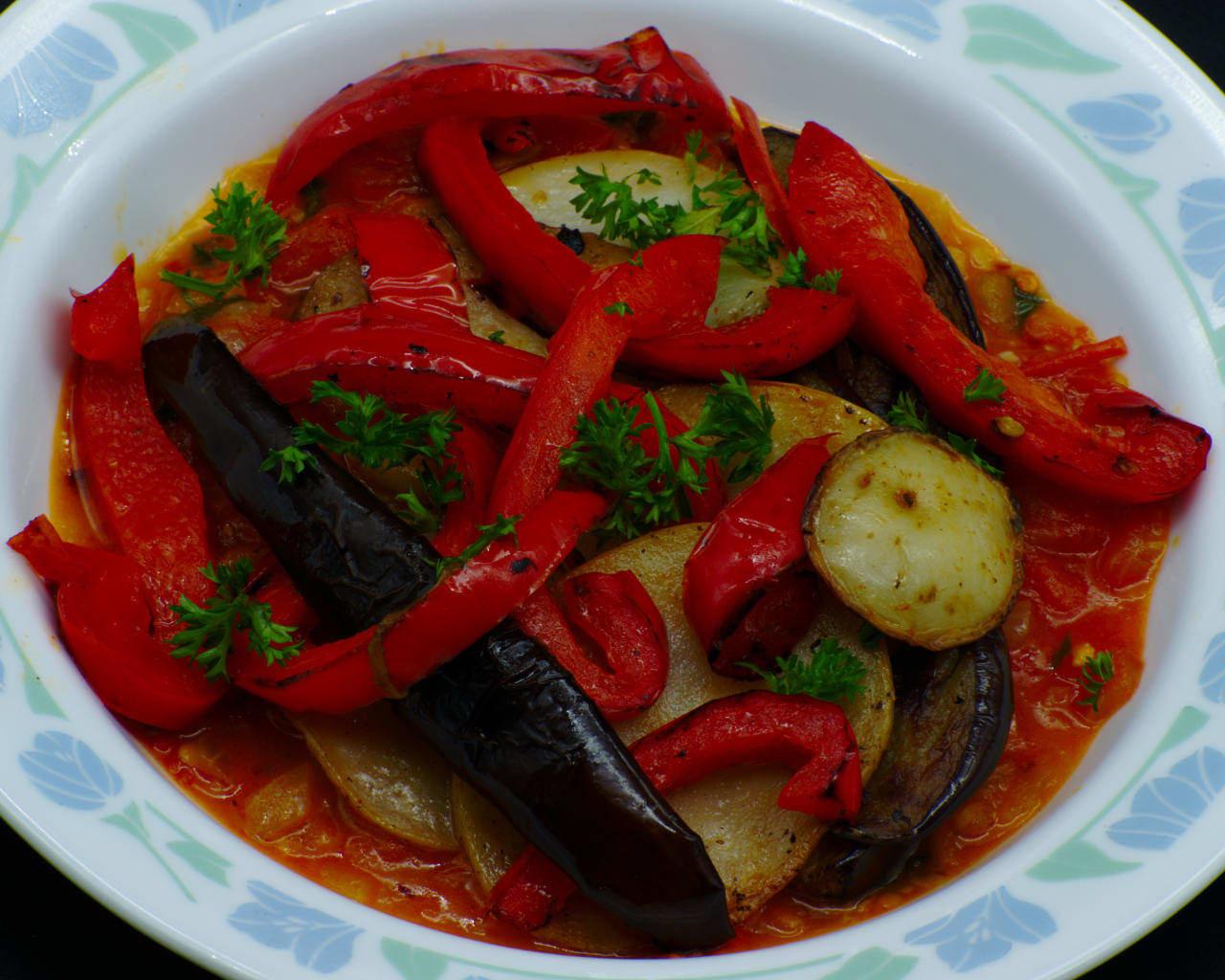 Tomato Eggplant Saksuka Image