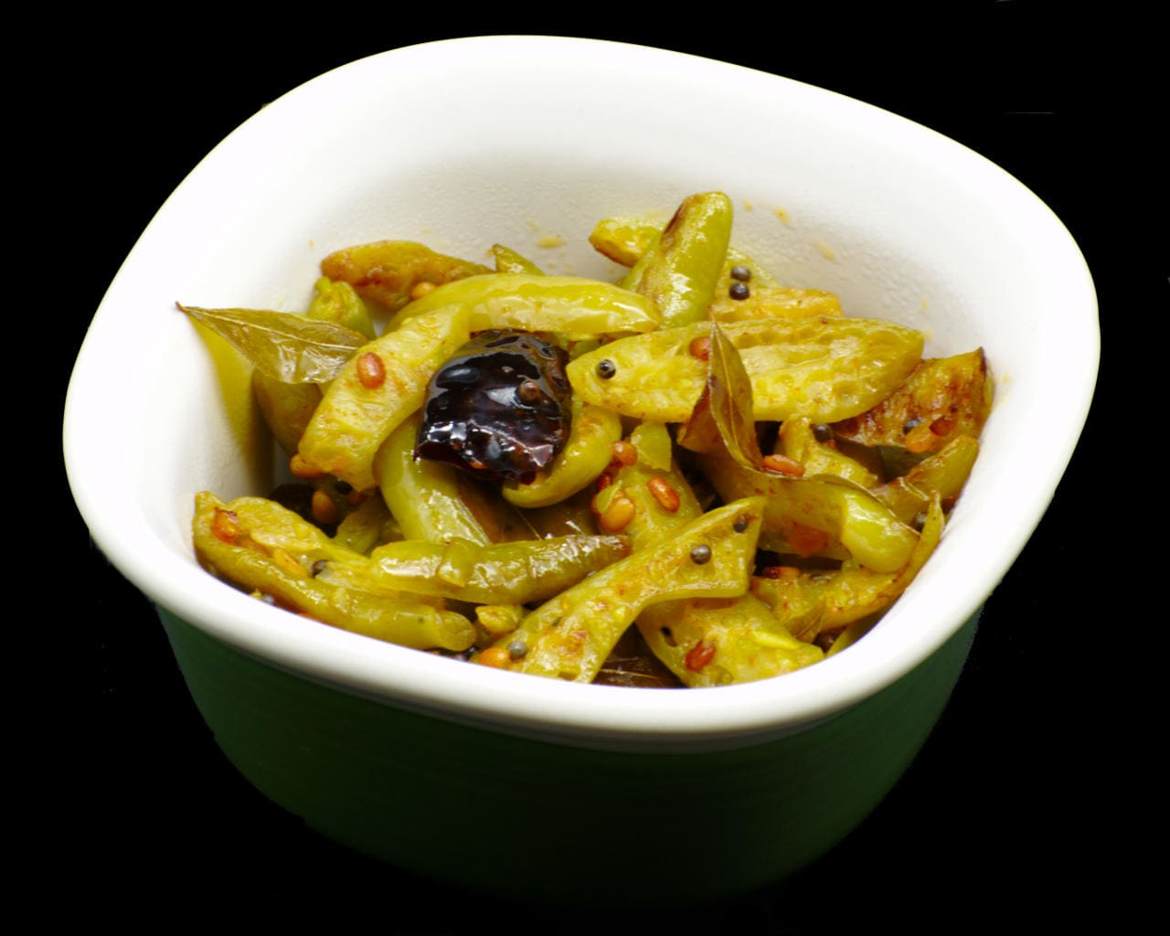 Stir-Fried Tindora With South Indian Spices Image