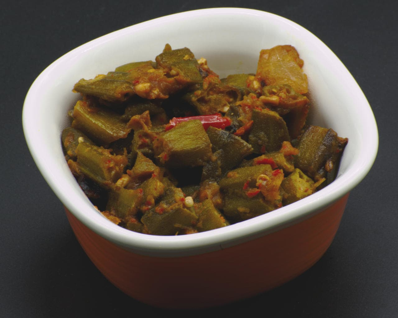 Stir-Fried Onion and Okra With South Indian Spices Image