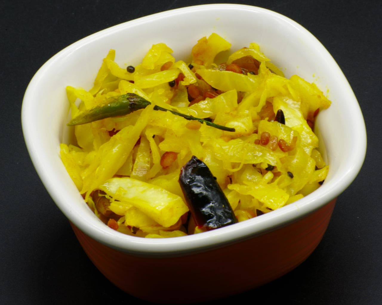 Stir-Fried Cabbage With South Indian Spices Image