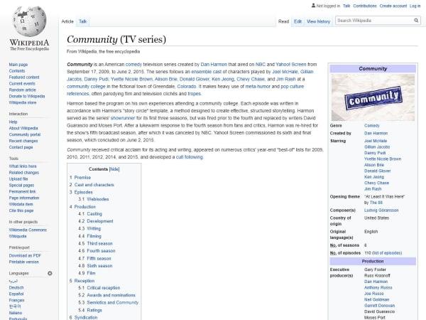 screenshot ofCommunity