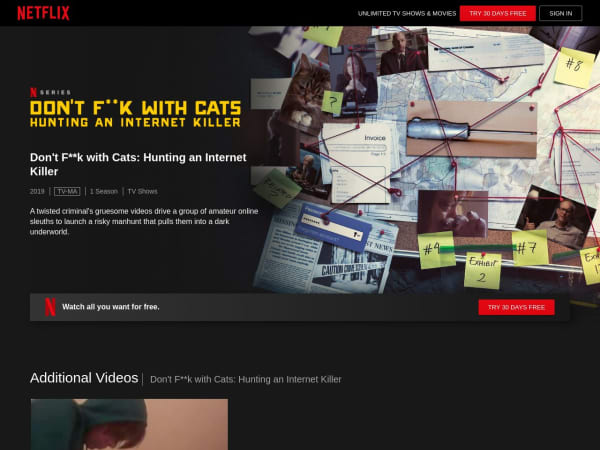 screenshot ofDon't F**K with Cats