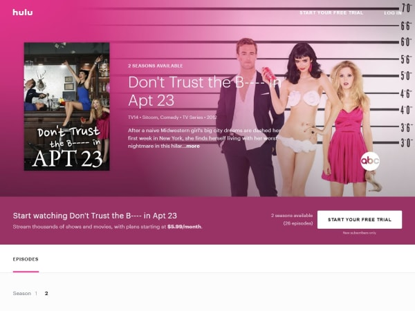 "screenshot of""Don't Trust the B----in Apt 23""-Hulu"