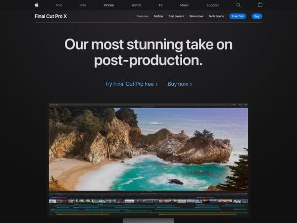 screenshot ofFinal Cut Pro X