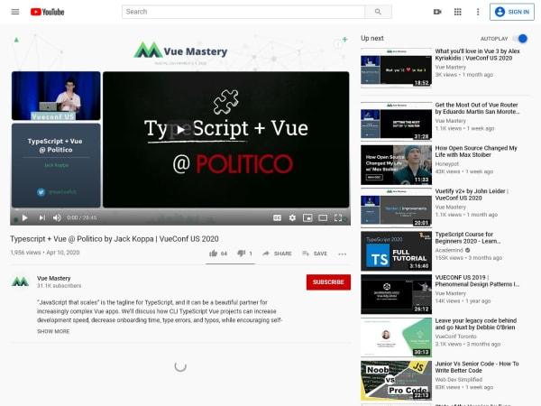 screenshot ofJack's VueConfUS talk on TypeScript + Vue @ POLITICO
