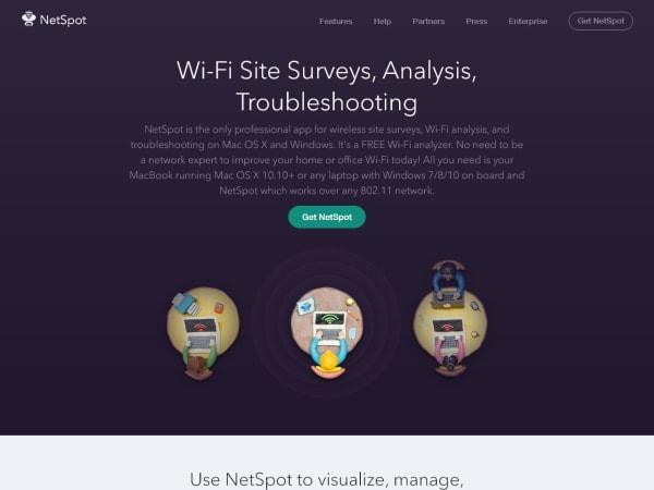 screenshot ofNetSpot