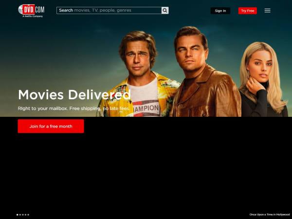 screenshot ofNetflix DVD Subscription