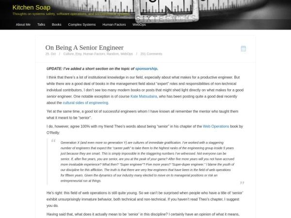 screenshot ofOn Being a Senior Engineer