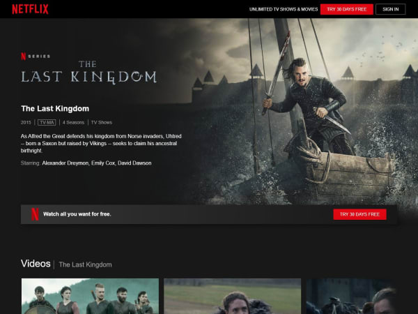 screenshot ofThe Last Kingdom