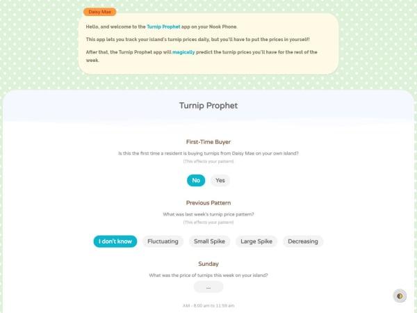 screenshot ofTurnip Prophet