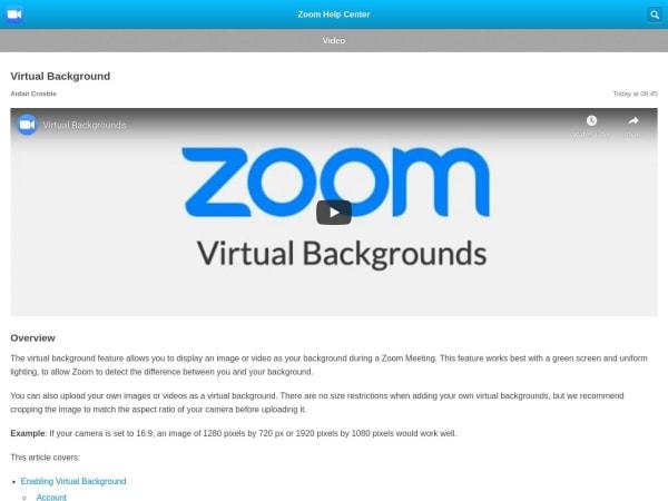 screenshot ofZoom Virtual Background