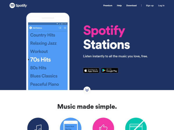 screenshot ofStations by Spotify