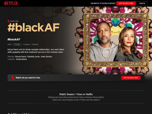 screenshot ofblackAF