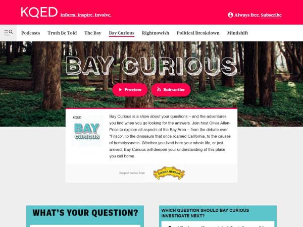 screenshot ofBay Curious podcast