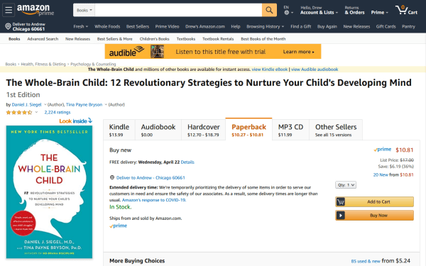 screenshot ofThe Whole-Brain Child: 12 Revolutionary Strategies to Nurture Your Child's Developing Mind