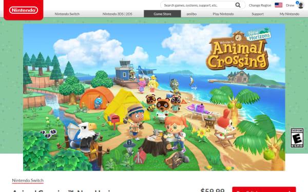 screenshot ofAnimal Crossing: New Horizons
