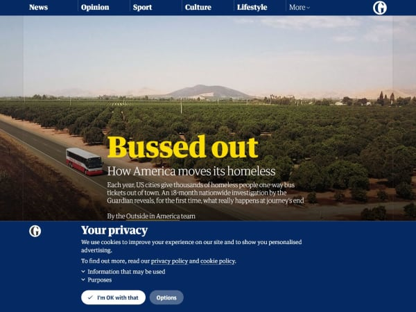 screenshot ofBussed out - How America moves its homeless