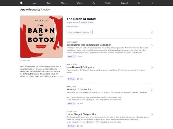 screenshot ofBaron of Botox
