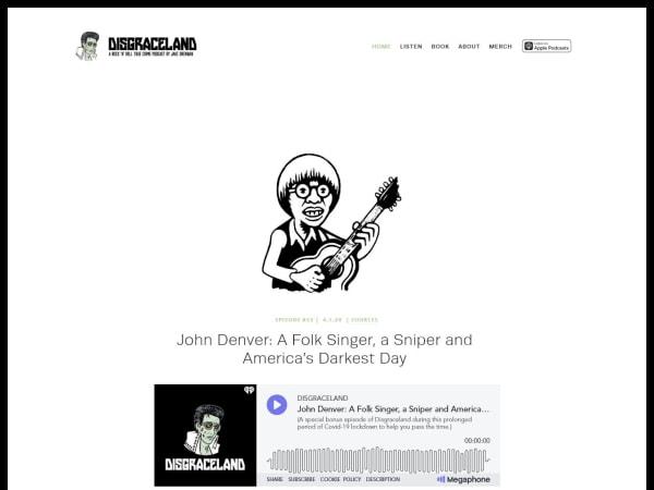 screenshot ofDisgraceland Podcast