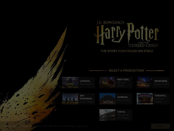 screenshot ofHarry Potter the Play