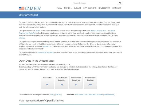 screenshot ofdata.gov