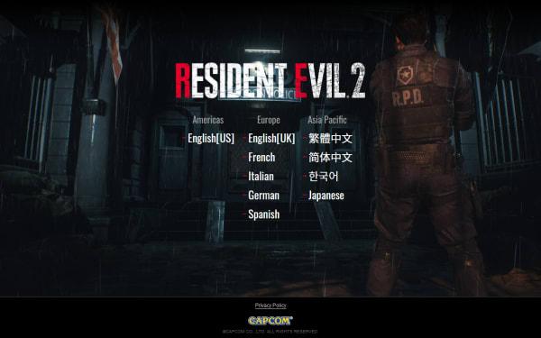 screenshot ofResident Evil 2