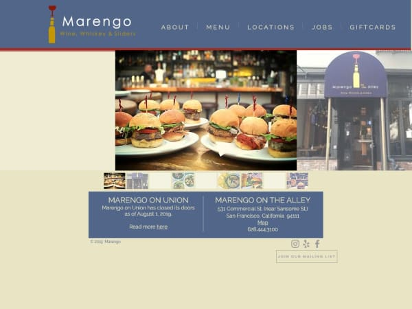screenshot ofMarengo