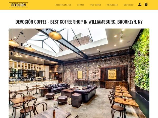 screenshot ofDevocion Coffee - Williamsburg, Brooklyn