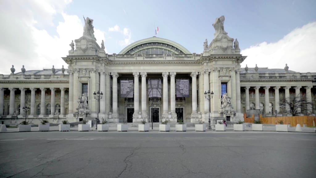 Façade principale du Grand Palais, 2021