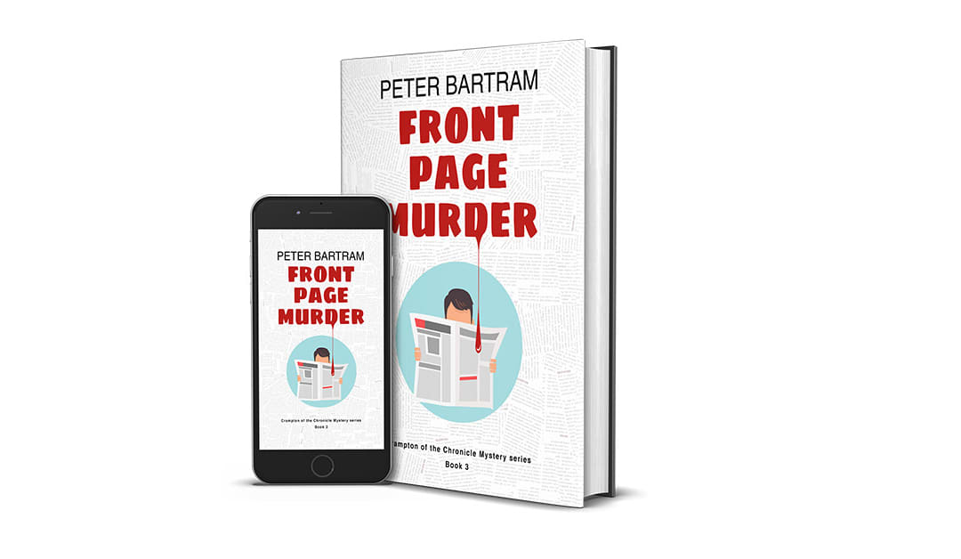 Front Page Murder Cover Design