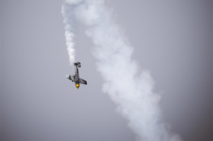 Jet fighter plane in mid-air