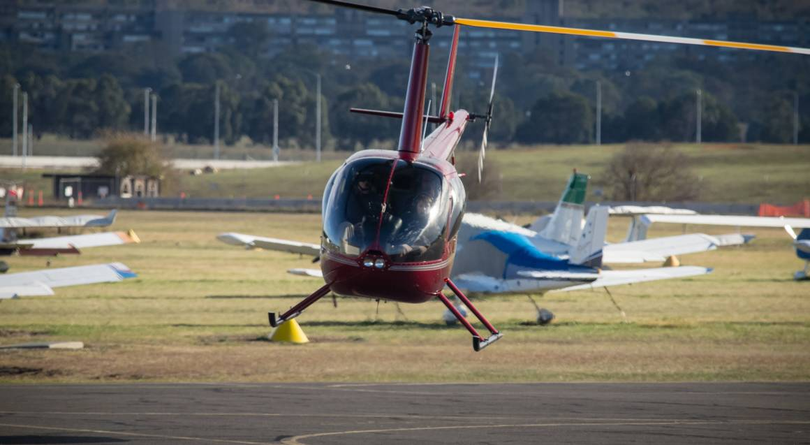 Helicopter Flying Lesson Over Canberra