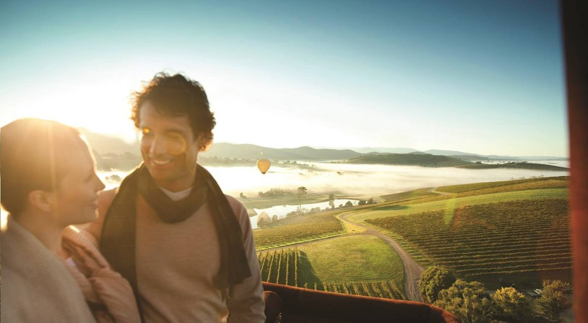 Hot Air Ballooning Over Yarra Valley with Breakfast - For 2