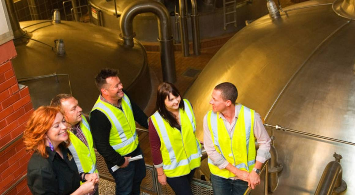 Carlton Brewhouse Victoria workers in plant
