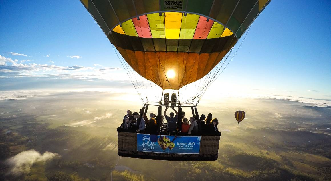 Hot Air Ballooning Over The Hunter Valley aerial view