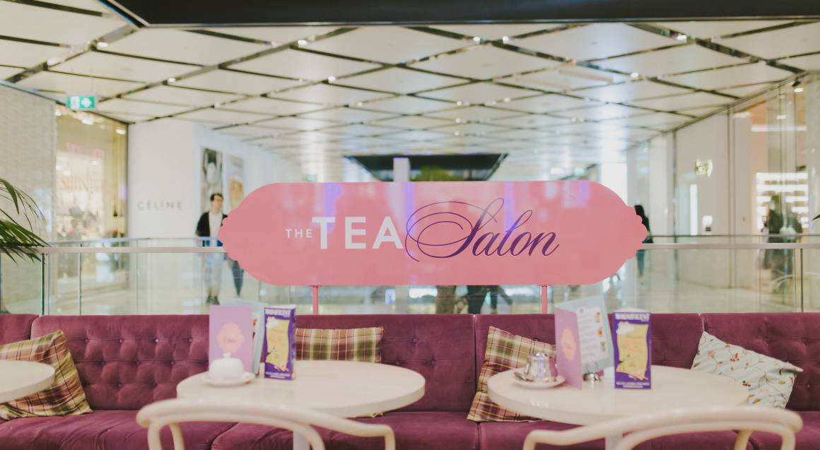 The tea salon westfield sydney venue booths with tables