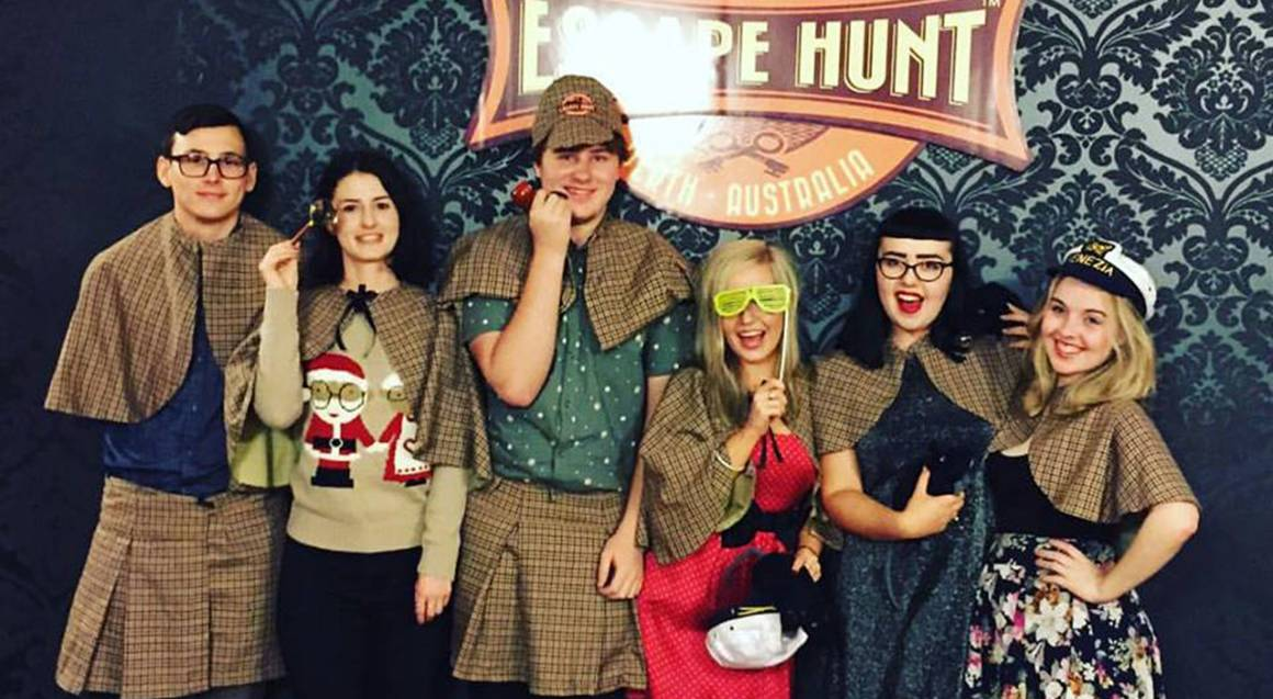 The Escape Hunt Experience perth group dressed up