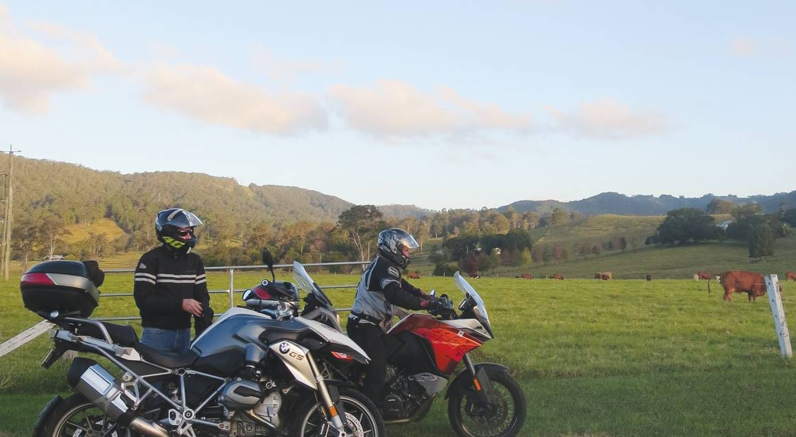 Sunshine Coast BMW Motorcycle Hire bushland hinterland view