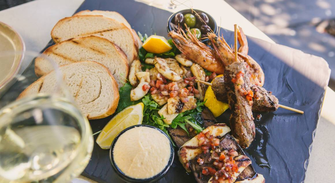 progressive three course meal tasting plate