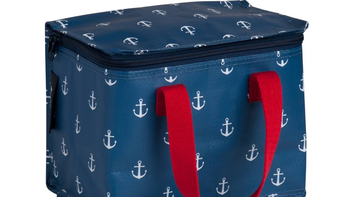 Lunch Box and Drink Bottle Set - Anchor Print
