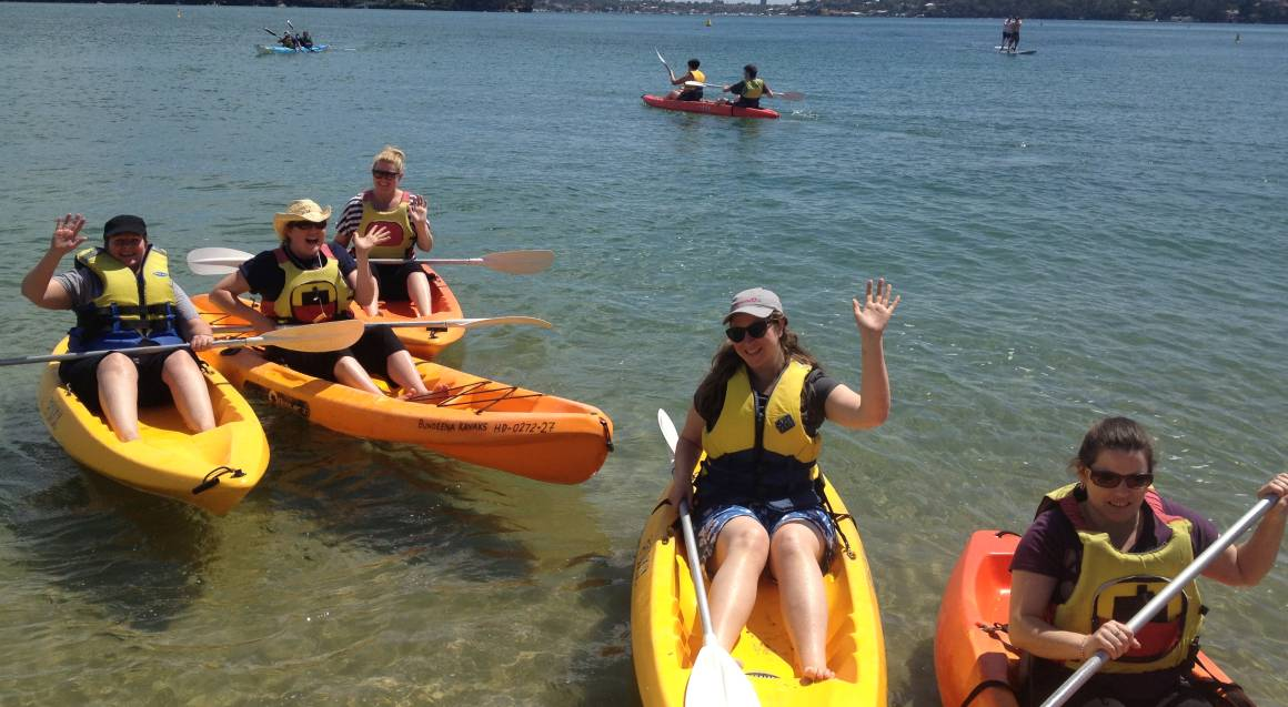 Self Guided Double Kayak Tour in the Royal National Park