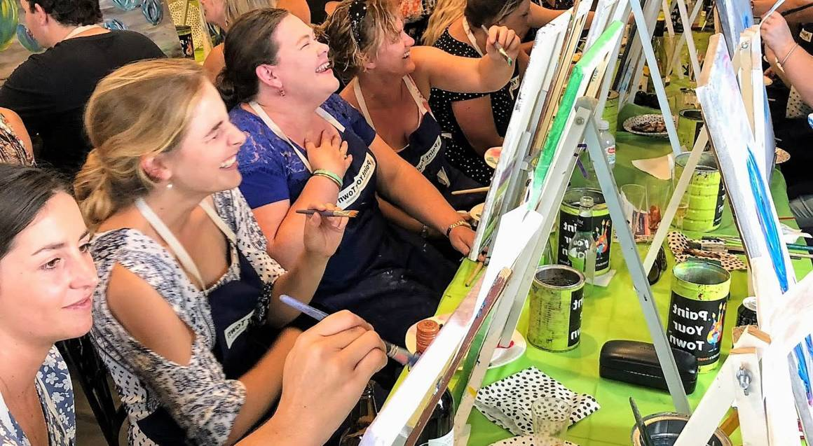 Private Paint and Wine Class - VIC - For 10