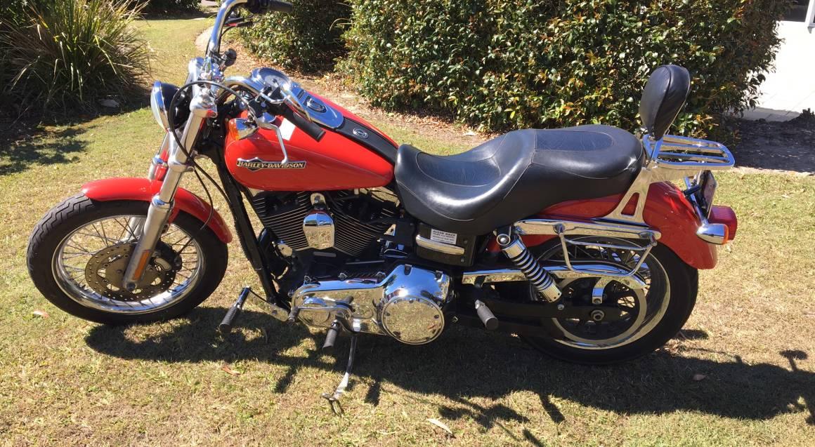 Sunshine Coast Motorcycle Cruise Hire Red Harley Davidson