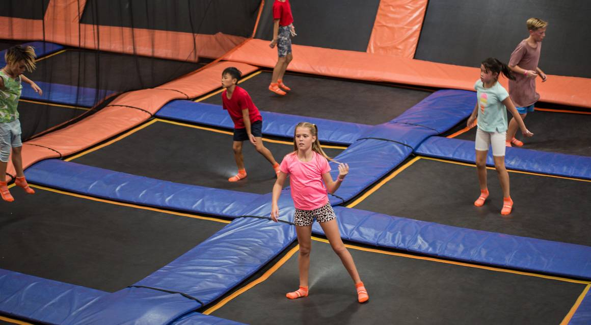 Indoor Trampoline Park Family Entry with Climbing- Macgregor