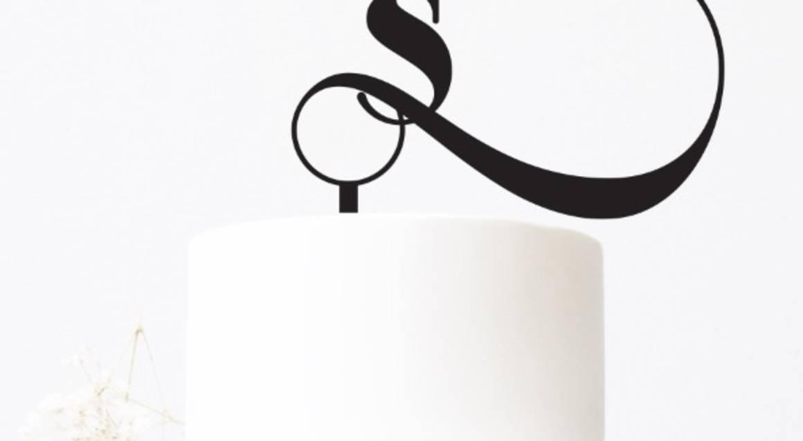 Personalised Copenhagen Initials Cake Topper