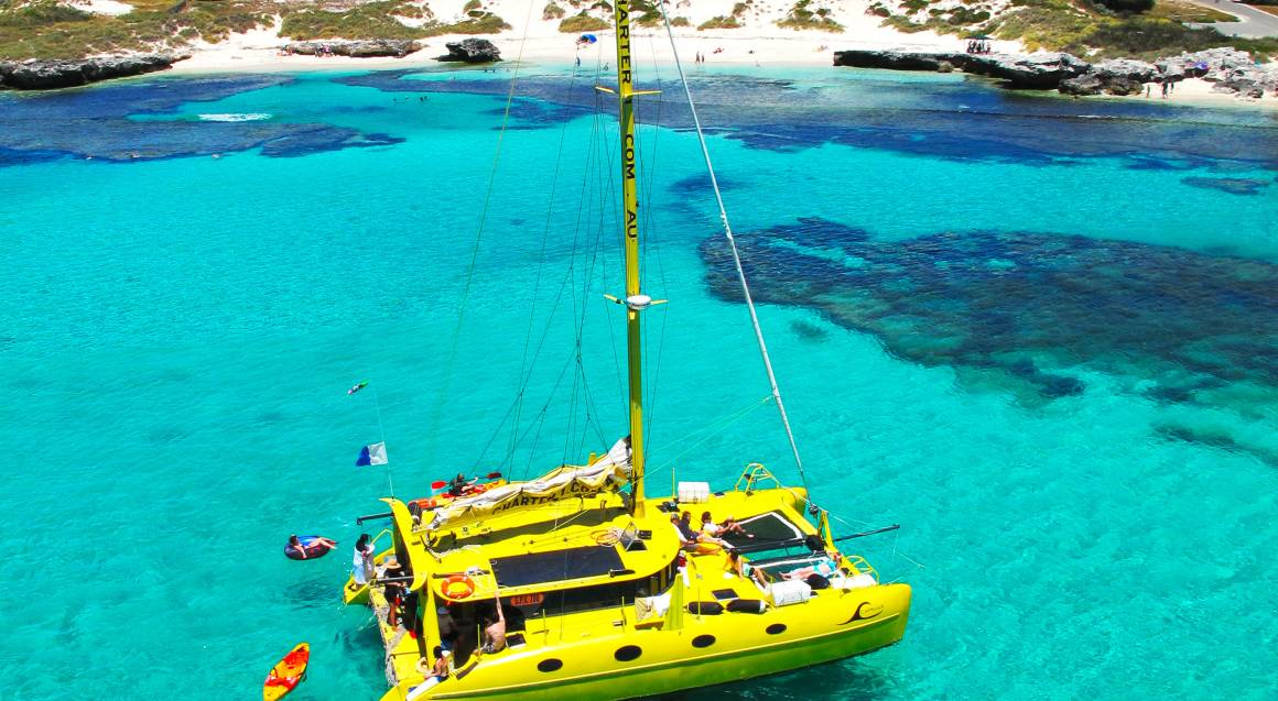 Sailing Catamaran to Carnac Island - Half Day